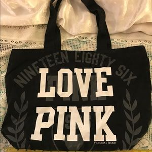 Pink Victoria's Secret Canvas Tote